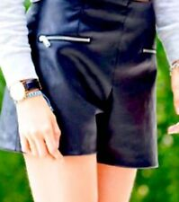 ZARA BEAUTIFUL BLACK COATED SHORTS XS AND L BLOGGERS NEW