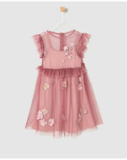 Robe en tulle fille Freestyle rose avec broderies A25891873