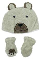 8eff01c4686 Boys Baby Toddler Teddy Bear Fleece Hat   Mittens Set Newborn to 24 Months