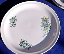Vintage Alfred Meakin Glo-White Ironstone plates. Forget-Me-Not pattern