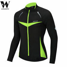 Men's Cycling Jackets Windproof Reflective Thermal Coat Long Jersey Wind Coat