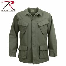 ROTHCO 4687 OLIVE DRAB 100% COTTON RIP-STOP VINTAGE VIETNAM ERA FATIGUE SHIRTS