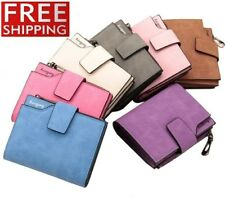 Womens Wallets Leather Vintage Small Card Id Holder Zipper Lady Purse Ladies Bag