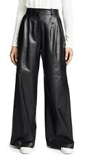 New Genuine Lambskin Leather Wide Leg pants Culottes high Rise Waist Trousers
