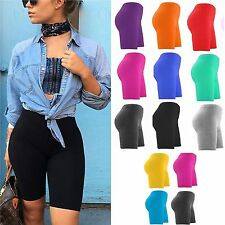WOMENS LADIES CYCLING SHORTS DANCING SHORTS LYCRA LEGGINGS ACTIVE CASUAL 8-26