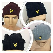 MEN'S BRAND NEW LYLE AND SCOTT CABLE KNIT BEENIE WINTER HAT