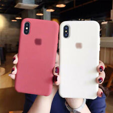 Slim Smooth Liquid Silicone Bumper Case Cover For iPhone XS Max XS 7 8 Plus XR X