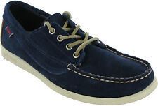 Sebago Campsides Navy Casual Formal Mens Lace Up Suede Loafer Shoes UK8.5 - 9