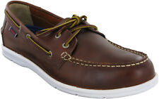 Sebago Litesides FGL Casual Formal Waxy Bown Mens Lace Up Loafer Shoes UK11.5