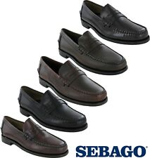 Sebago Classic Leather Mens Casual Slip On Formal Smart Loafer Shoes UK5 - 15