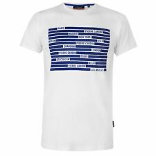 Pierre Cardin Hombre Cardin Printed Text T-Shirt Camiseta Top Cuello Redondo