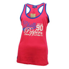 Chilli Pepper Womens Ladies Vest Top Red Yellow Blue or Green