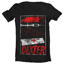 Official Licensed Dexter Signs Wide Neck Girly Women's Fitted T-Shirt