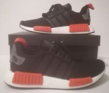 Adidas NMD_R1 Men's White/Black/Red Trainers Sizes UK 8 & 9 AQ0882