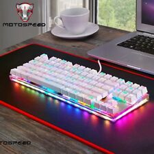 Motospeed K87S ABS USB2.0 Wired Mechanical Keyboard with RGB Backlight Blue