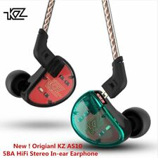 KZ AS10 5BA HiFi Stereo In-Ear Earphone High Resolution Earbuds Headseat