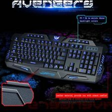 Bilingual Russian / English 3 Backlight Colors Wired Pro Gaming Keyboard