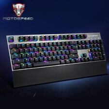 Motospeed CK108 USB Wired Mechanical Keyboard Gaming with 18 Backlight Mode