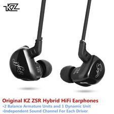 Original KZ ZSR Hybrid Earphones Balanced Armature with Dynamic In-ear Earbuds