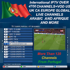 THE BEST Portugal ARABIC IPTV SUBSCRIPTION & WORLDWIDE & VOD (HOT PRICE)