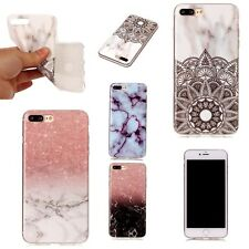 For iPhone X 8 7 Plus 6 XS MAX Silicone Soft Cover Marble TPU Clear Phone Case