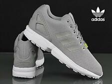 Adidas ZX Flux Men's Trainers Sneakers Shoes Grey / White Lightweight RRP £75