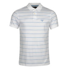 Barbour Bodmin Stripe Polo Shirt White (BARBOUR SALE - 20% off!)