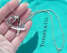Tiffany & Co Paloma Picasso Sterling Silver Extra Large XL Loving Heart Necklace