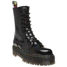 New Womens Dr. Martens Black Jadon Hi Leather Boots Ankle Lace Up Pull On Zip