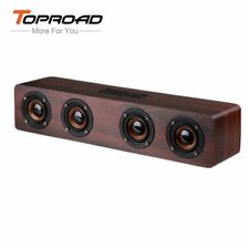 TOPROAD 12W Hifi Bluetooth Speakers Wireless Stereo Subwoofer Altavoz Wood Home