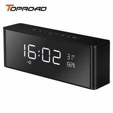 TOPROAD Alarm Clock Bluetooth Speaker Portable Wireless 3D Surround Stereo