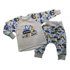 BNWT Baby Toddler Boys Tracksuit Outfit Set Jumper & Trousers 3-6/6-9/9-12/12-18