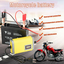 3Stages 12V/2A Car Motorcycle Lead Acid Battery Charger AGM/GEL/LCD Display X7I4