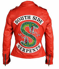 Riverdale Southside Serpents Cheryl Blossom Red Faux Leather Jacket Womens