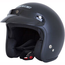Motorcycle Spada Open Face Helmet - Matt Black