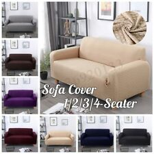 1/2/3/4 Elastic Sofa Cover Chair Pillow Case Argyle Stretch Soft Couch Slipcover