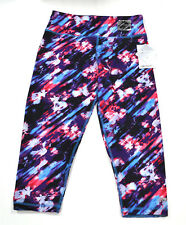 Marika Performance Capri Contoured Fit 3/4 Reversible Leggings -Blue Burst Print