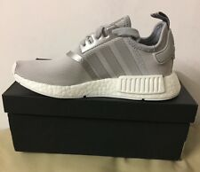 ADIDAS NMD R1 RUNNER SILVER/WHITE S76004 WOMENS TRAINERS SIZE U.K 4.5