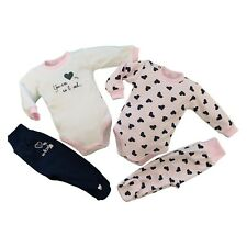 Baby Infant Girls Set Outfit Bodysuit & Trousers 100% Cotton **3-6/6-9 Months