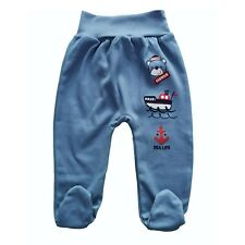 Baby Boys/Girls Trousers with feet Leggings 100%Cotton 9-12/12-18  Months
