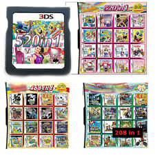 520 468 208 IN 1 Game Cartridge Multicart For NDS NDS NDSL NDSi 3DS 2DS XL LL
