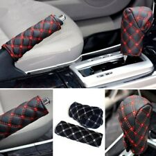 Car Gear Head Shift Knob Handbrake Cover Non Slip Grip Handle Case