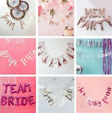 Team Bride to Be Hen Night Party Banner Bunting Garland Decoration Accessories