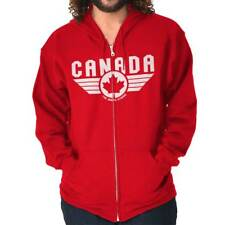North Strong Canada Aviator Badge Pilot Movie Souvenir Zipper Hoodie