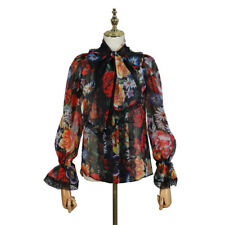 2019SS Womens Designer Inspired  Floral Lace Loose Fit Shirt Top