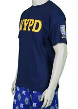 NYPD NAVY BLUE SLEEVE BADGE NEW YORK POLICE DEPARTMENT T-SHIRT TEE MEN UNISEX