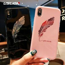 Silicone Feather Case For iPhone 7 8 Plus XS Max XR Xs