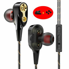 4 SPEAKER MIC IN-EAR EARBUDS STEREO HEADSET HEADPHONES EARPHONE SPORTS GYM BASS