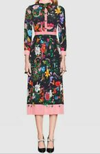 2019 Womens Designer Inspired  Pleated Floral Shirt  Dress Plus Size
