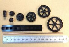 Miniature Plastic Cog Gears with 2mm Shaft Hole, Rack or Shaft, Various Type B